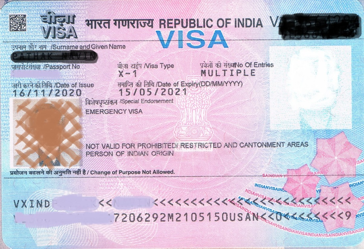 Visa for foreign citizens traveling to India during Covid19